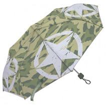 kinderparaplu Army 91 cm polyester lichtgroen