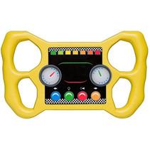 racestuur voor speelhuisje 30 cm geel