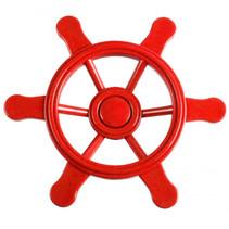 piratenstuurwiel voor speelhuisje 21,5 cm rood