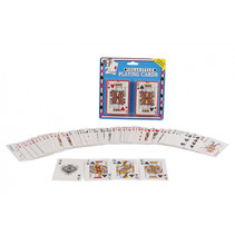 speelkaarten Vegas Style 9,5 x 6 cm karton 2 sets