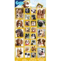 stickerset Dogs junior papier geel 26 stuks