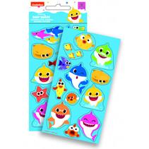 stickers Baby Shark glans 10 x 21 cm junior foam