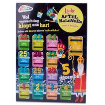 aftelkalender Sinterklaas junior karton zwart
