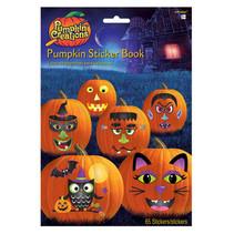 stickerboek Halloween pompoenen papier 65-delig