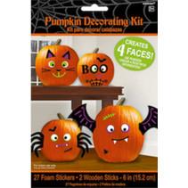 stickers Halloween 15,2 cm foam zwart/oranje 29-delig