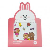 Stickers Linefriends roze 8-delig
