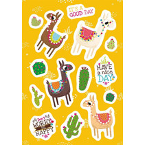 stickervel Alpaca junior 16 x 9 cm papier