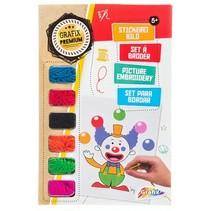 borduurset Clown 8-delig multicolor