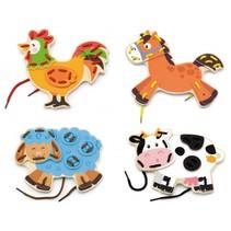 rijgblokken dieren 4 stuks
