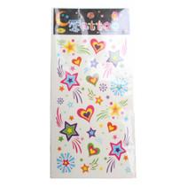 tattoovel hartjes junior 17 x 8 cm papier