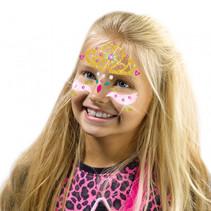fashion glitter gezichtstattoos prinses