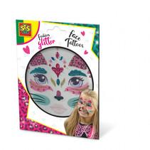 fashion glitter gezichtstattoos kat
