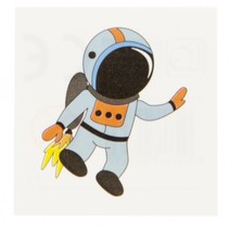 plaktattoo astronaut 5 x 5 cm
