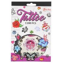 tattoo stickerboekje +280 stuks paars