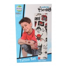 tattoo Zeerover 2 vellen zwart/rood