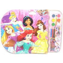 kleurset Prinsessen XXXL meisjes 53 x 58 cm 27-delig
