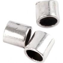 knijpkralen verzilverd 2 mm 80 stuks