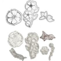 embossing folders, stempels en snijmallen bloem