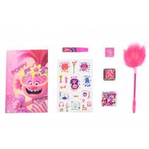 maak je eigen dagboek Trolls 2 roze 7-delig