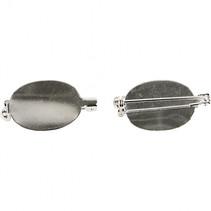 broche speld 20 x 15 mm zilver 5 stuks