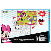 kleurplaat en puzzel Minnie Mouse 49 cm karton 100 stuks