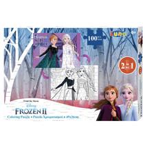 kleurplaat en puzzel Frozen II 49 cm karton 100 stuks