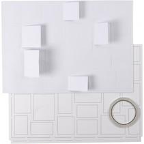 maak je eigen kerstkalender wit 30 x 42 cm 5 stuks