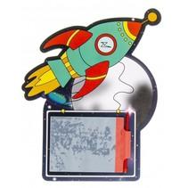 tekenbord met pen raket
