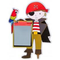 tekenbord met pen piraat 24 cm