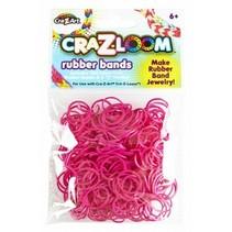 loombandjes Loom Bands refill pack 300 stuks roze