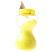 zand-putty in zandloperpot ultralicht junior 14 cm geel