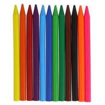 kleurpotloden Plastipastel junior polyethyleen 12-delig