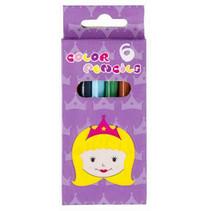 kleurpotloden Prinses 9 cm hout 6 stuks