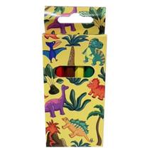 kleurpotloden Dino 9 cm hout 6-delig