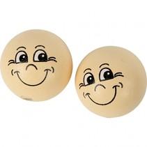 houten bollen 22 mm babyroze 10 stuks