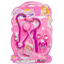 speelset dokter meisjes 21 x 31 cm roze 6-delig