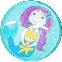 ring Zeemeermin meisjes 1,5 cm blauw/roze