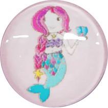 ring Zeemeermin meisjes 1,5 cm roze
