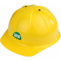 bouwplaatshelm junior geel one-size