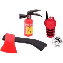 brandweerset rood 4-delig