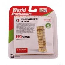 3D-Puzzel toren van Pisa klein 6-delig brons