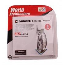 3D-Puzzel Caravelle Hotel klein 6-delig wit