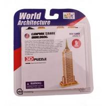 3D-Puzzel Empire State Building klein 6-delig brons