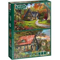 legpuzzel The Woodland Cottage 2x1000 stukjes
