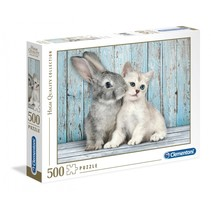 legpuzzel High Quality Cat&Bunny 500 stukjes
