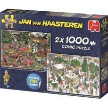 Jan van Haasteren 2-in-1 legpuzzel Kerst 1000 stukjes