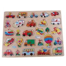 Houten knopjespuzzel transport 45 x 35 cm