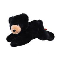 knuffel zwarte beer Ecokins Mini junior 20 cm pluche zwart