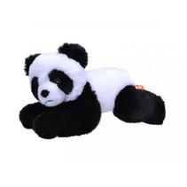 knuffel panda Ecokins Mini junior 20 cm pluche wit/zwart