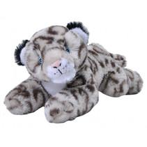 knuffel sneeuw luipaard Ecokins Mini junior 20 cm pluche grijs